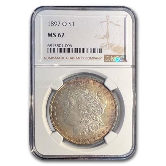 1897-O Morgan Dollar MS-62 NGC
