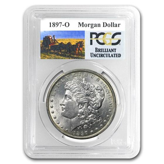 1897-O Stage Coach Morgan Dollar BU PCGS