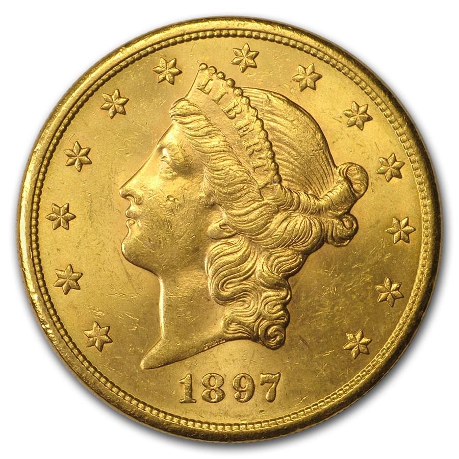 1897-S $20 Liberty Gold Double Eagle AU