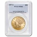 1897-S $20 Liberty Gold Double Eagle MS-62 PCGS