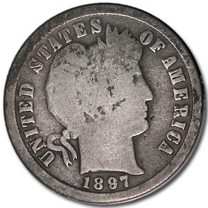 1897-S Barber Dime Good