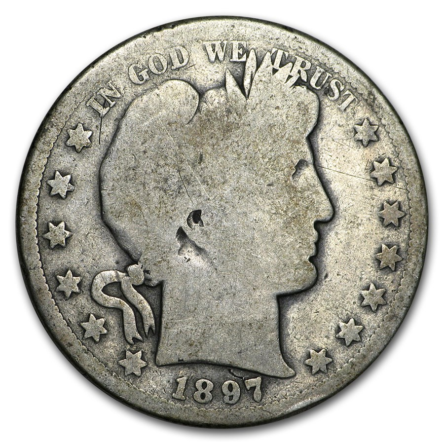 1897-S Barber Half Dollar AG