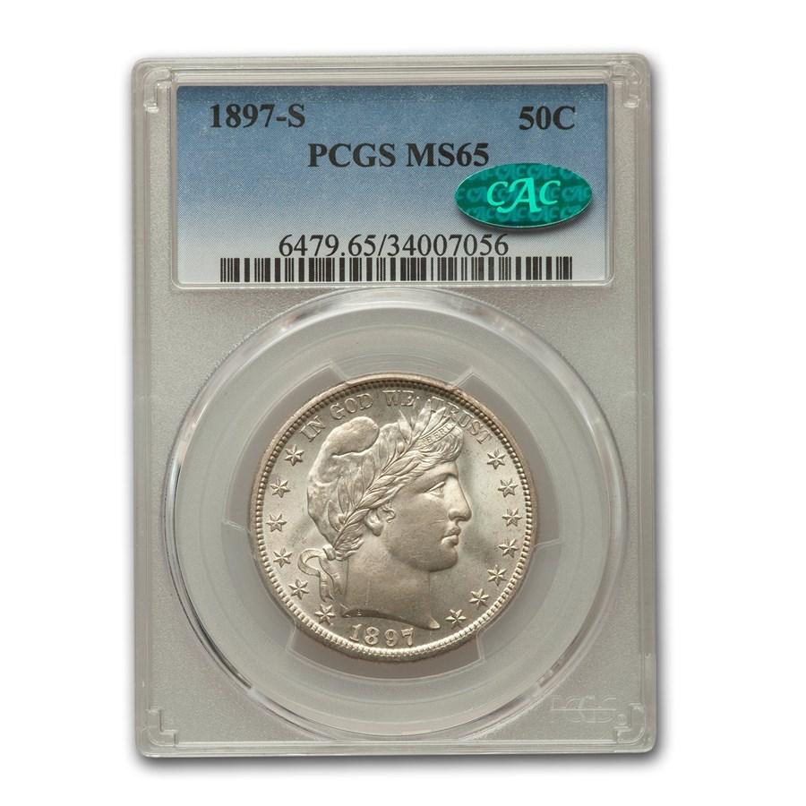 1897-S Barber Half Dollar MS-65 PCGS CAC