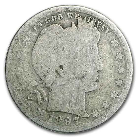 1897-S Barber Quarter AG