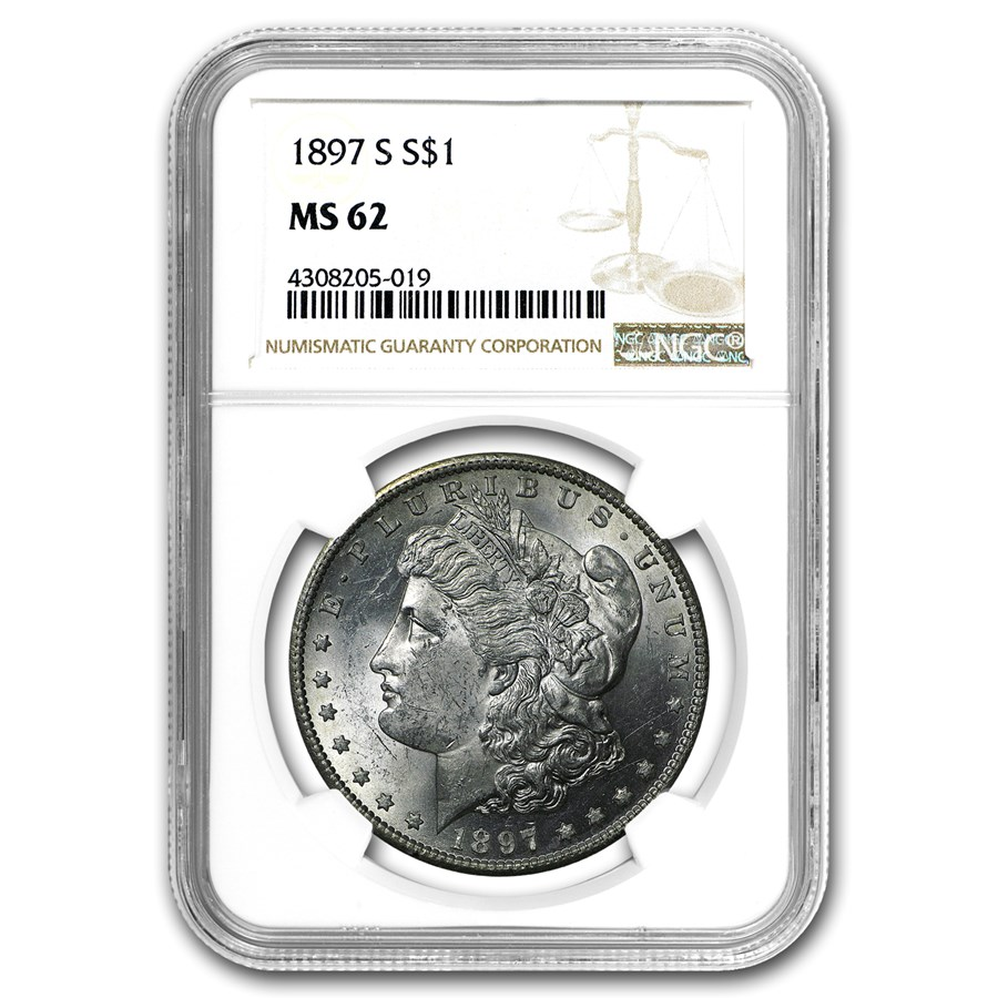 1897-S Morgan Dollar MS-62 NGC