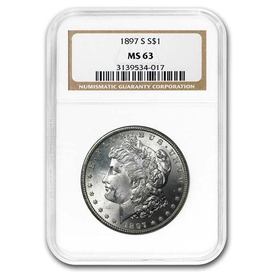 1897-S Morgan Dollar MS-63 NGC