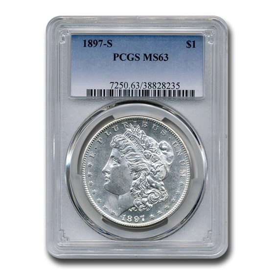 1897-S Morgan Dollar MS-63 PCGS