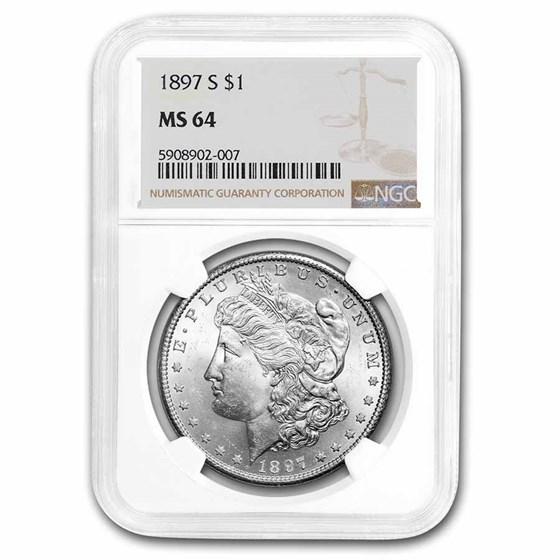 1897-S Morgan Dollar MS-64 NGC