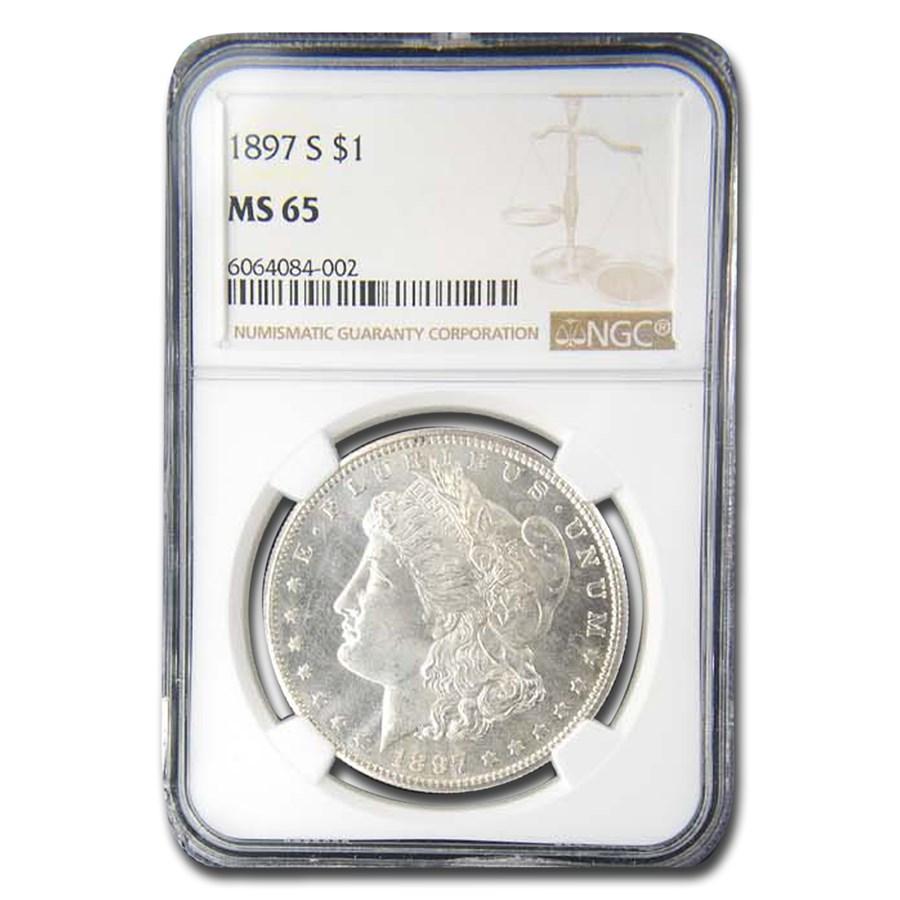 1897-S Morgan Dollar MS-65 NGC