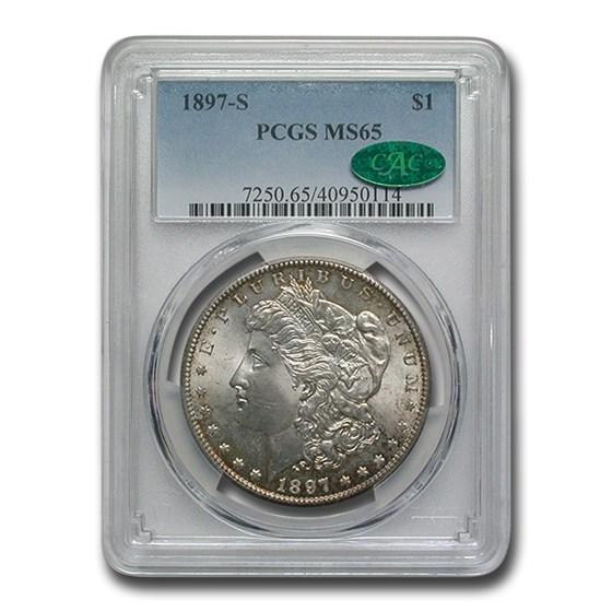 1897-S Morgan Dollar MS-65 PCGS CAC