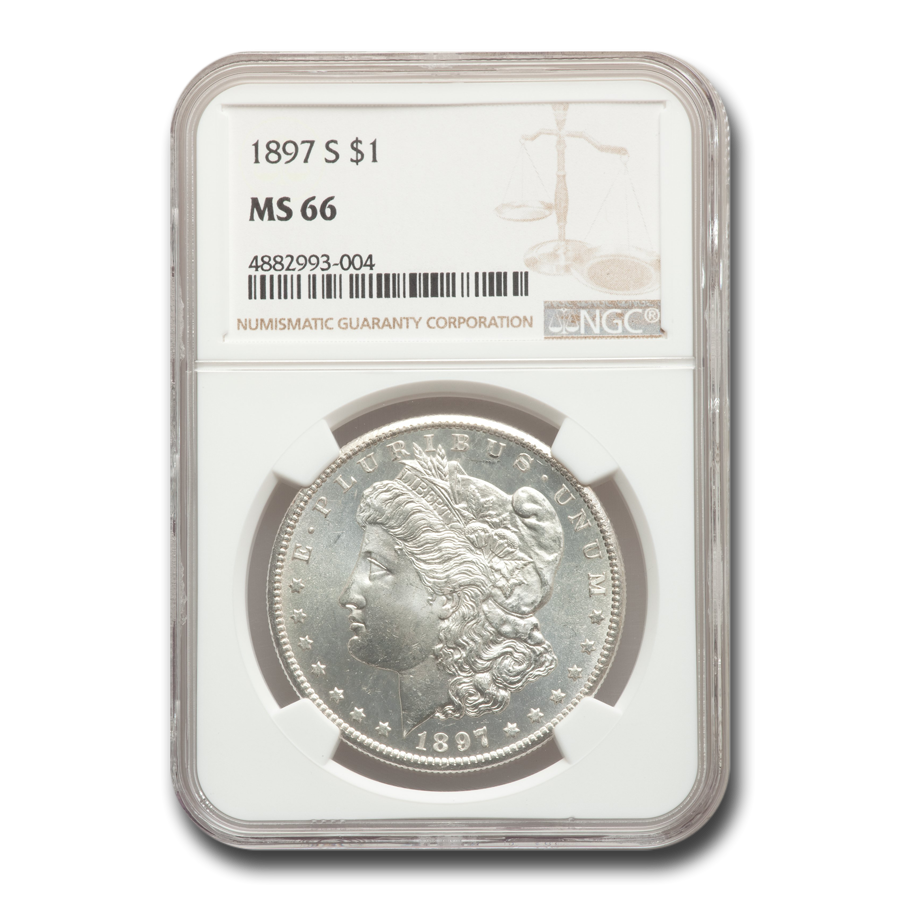 1897-S Morgan Dollar MS-66 NGC