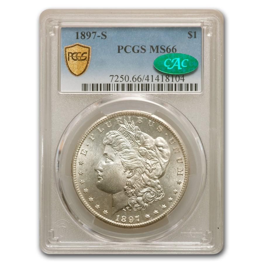 1897-S Morgan Dollar MS-66 PCGS CAC