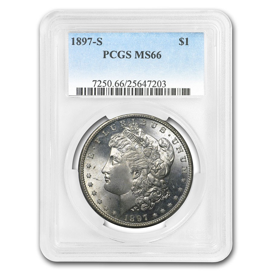 1897-S Morgan Dollar MS-66 PCGS
