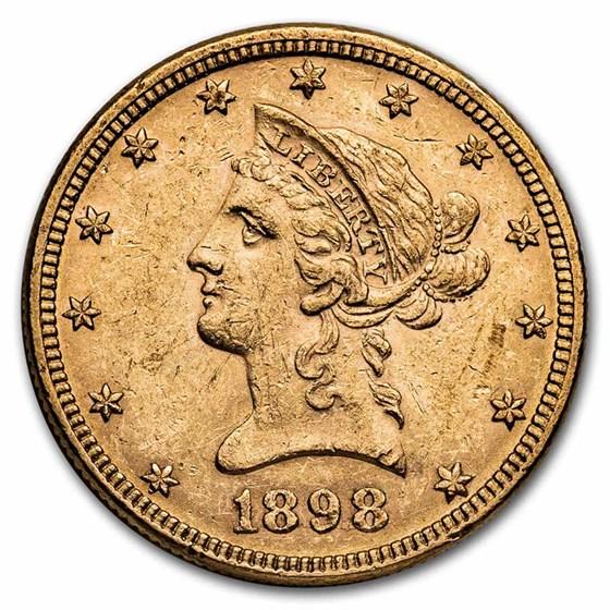 1898 $10 Liberty Gold Eagle AU