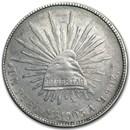 1898-1909 Silver Mexican 1 Peso Cap & Rays AU/BU (Random Dates)
