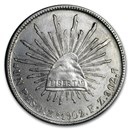 1898-1909 Silver Mexican 1 Peso Cap & Rays Avg Circ (ASW .786 oz)