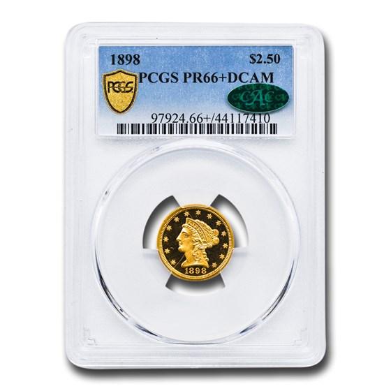 1898 $2.50 Liberty Gold Quarter Eagle PR-66+ DCAM PCGS CAC