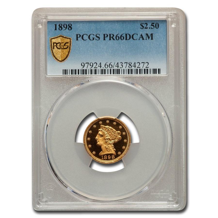 1898 $2.50 Liberty Gold Quarter Eagle PR-66 DCAM PCGS