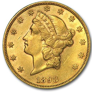 1898 $20 Liberty Gold Double Eagle AU