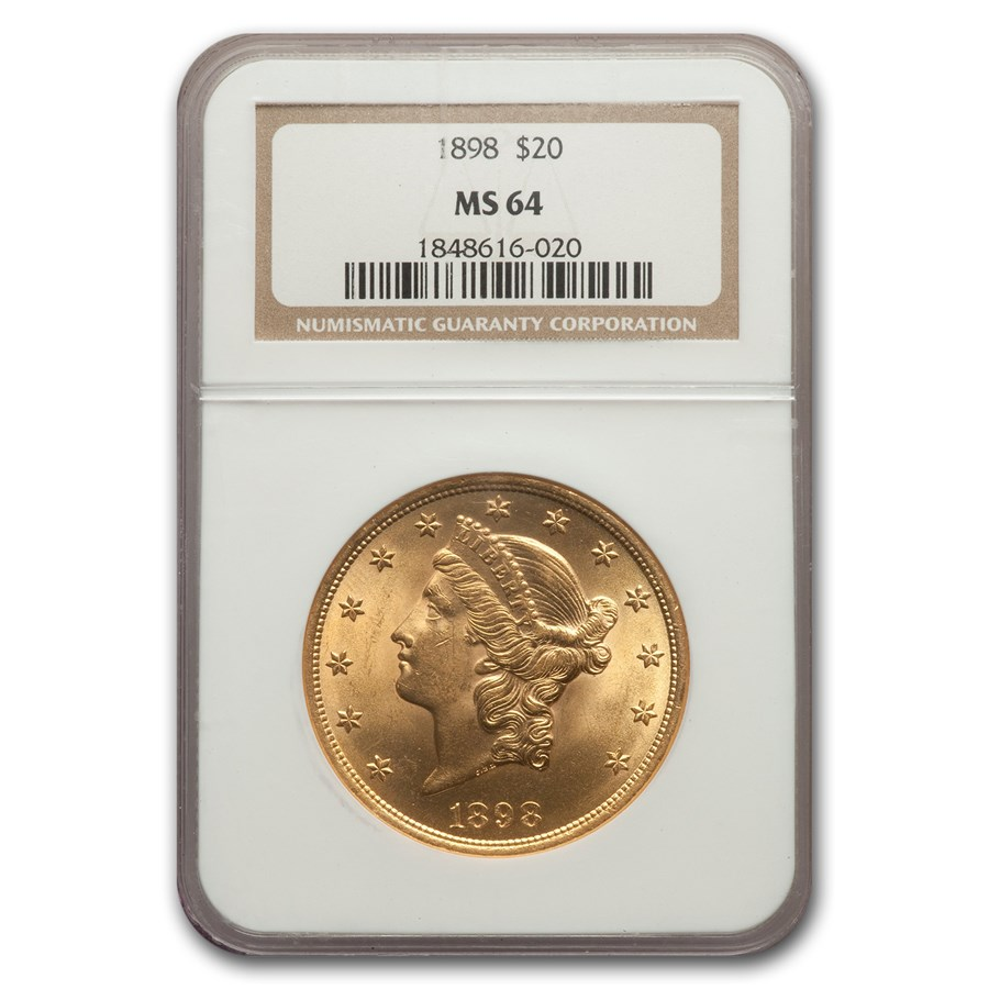 1898 $20 Liberty Gold Double Eagle MS-64 NGC