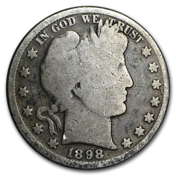 1898 Barber Half Dollar Good