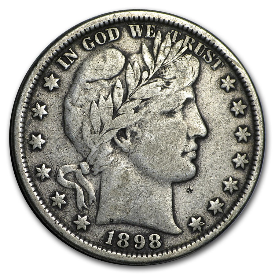 1898 Barber Half Dollar VF