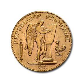 1898 France Gold 20 Franc Lucky Angel BU