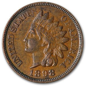 1898 Indian Head Cent AU