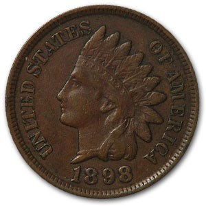 1898 Indian Head Cent XF