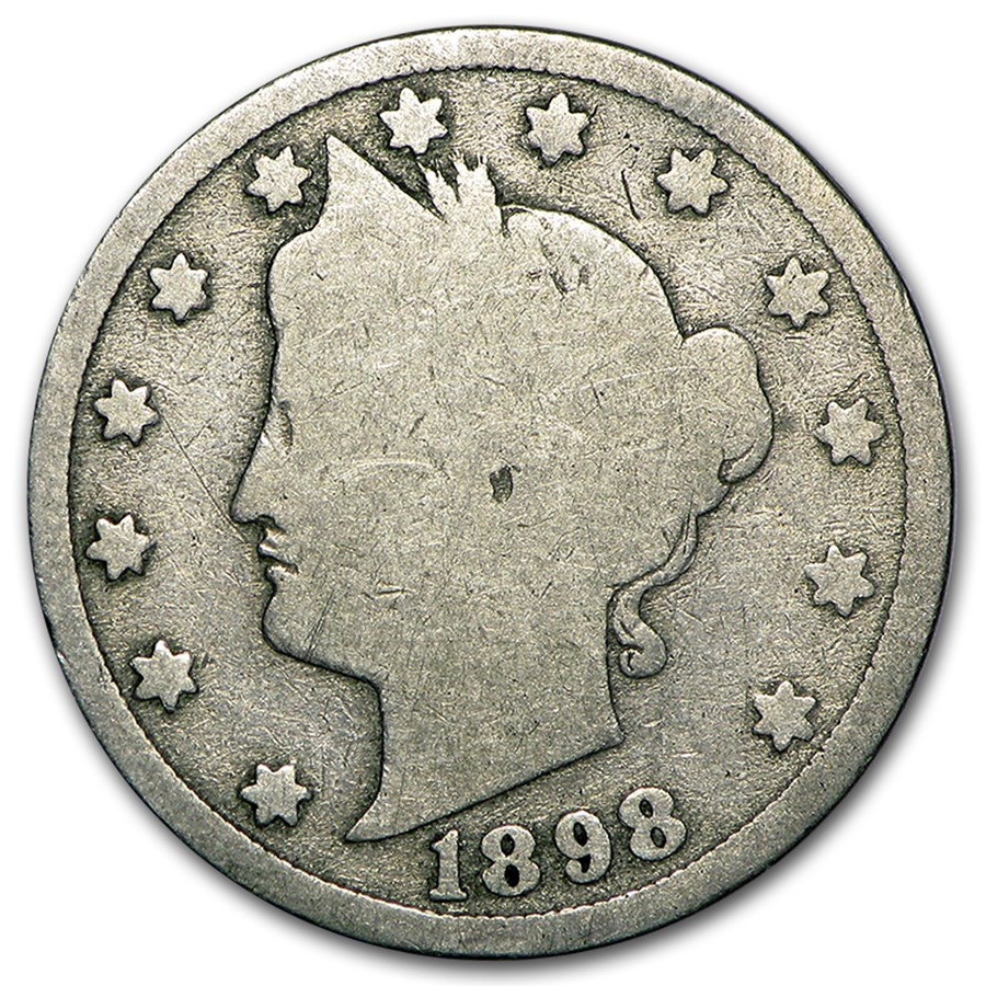 1898 Liberty Head V Nickel Good+