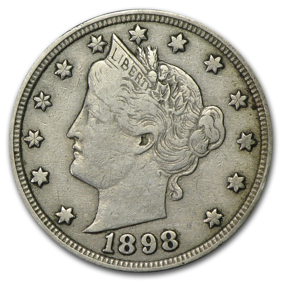 1898 Liberty Head V Nickel VF