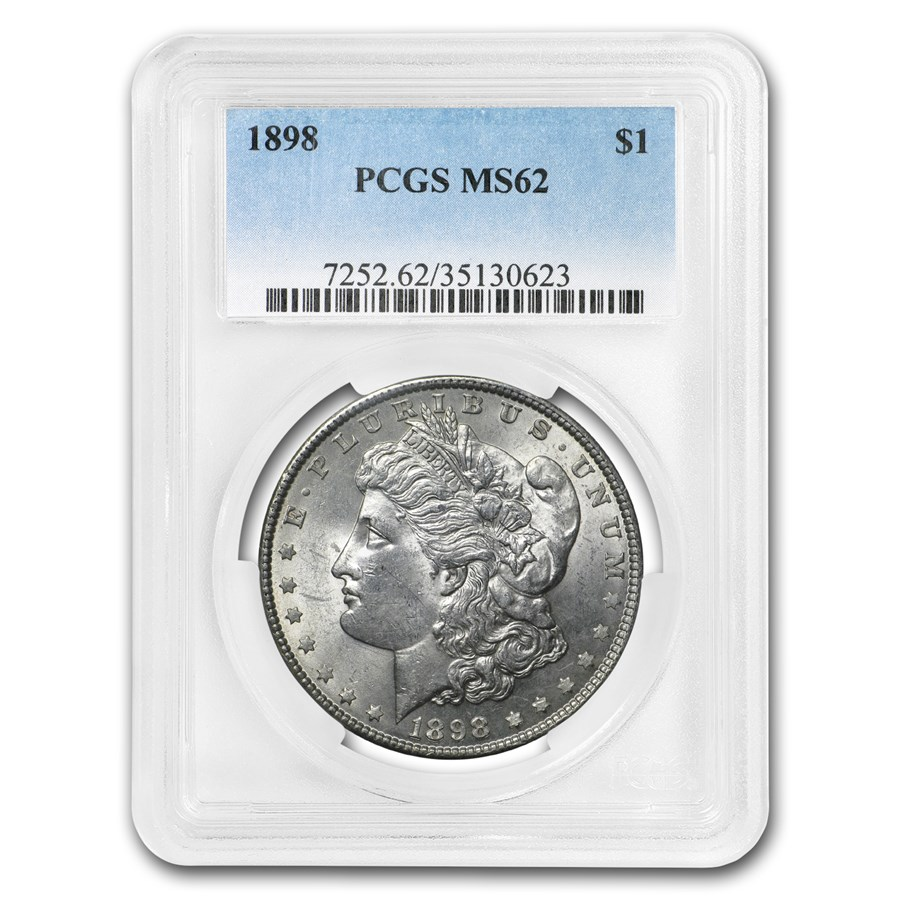 1898 Morgan Dollar MS-62 PCGS