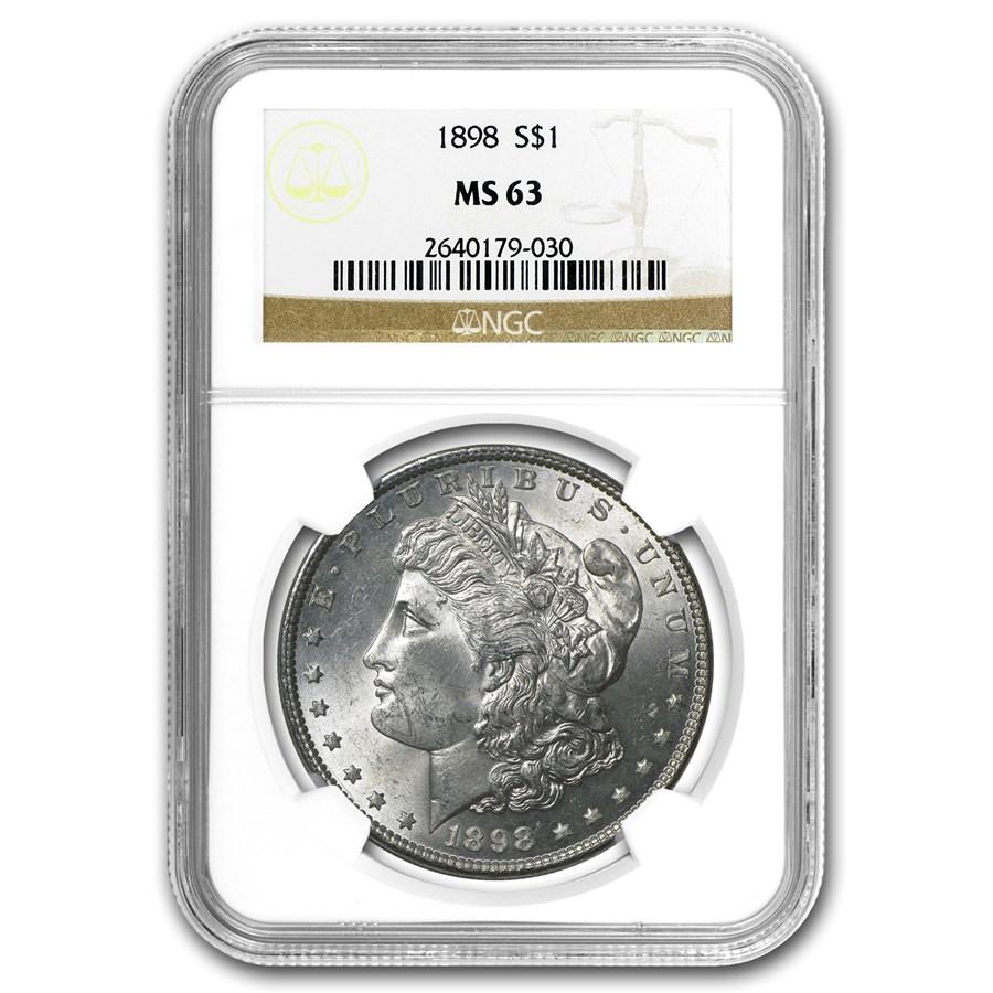 1898 Morgan Dollar MS-63 NGC