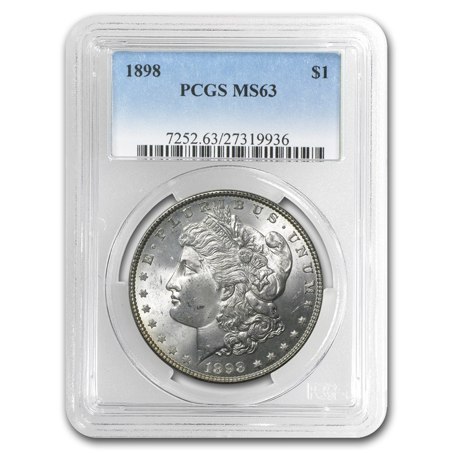 1898 Morgan Dollar MS-63 PCGS