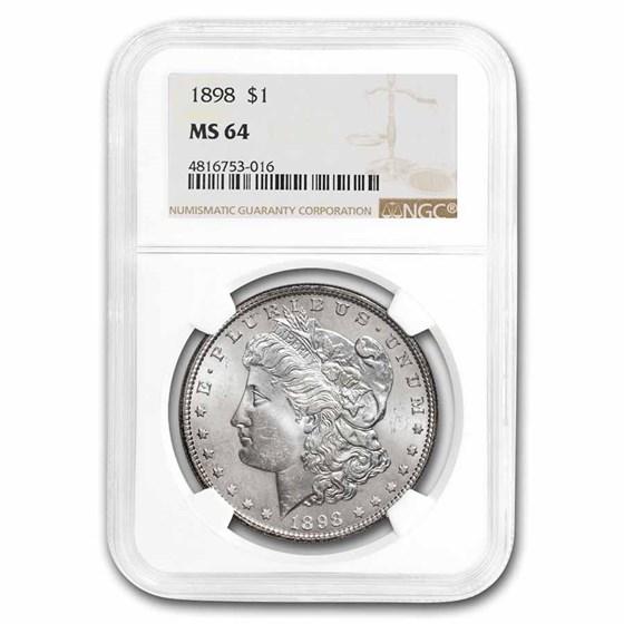 1898 Morgan Dollar MS-64 NGC