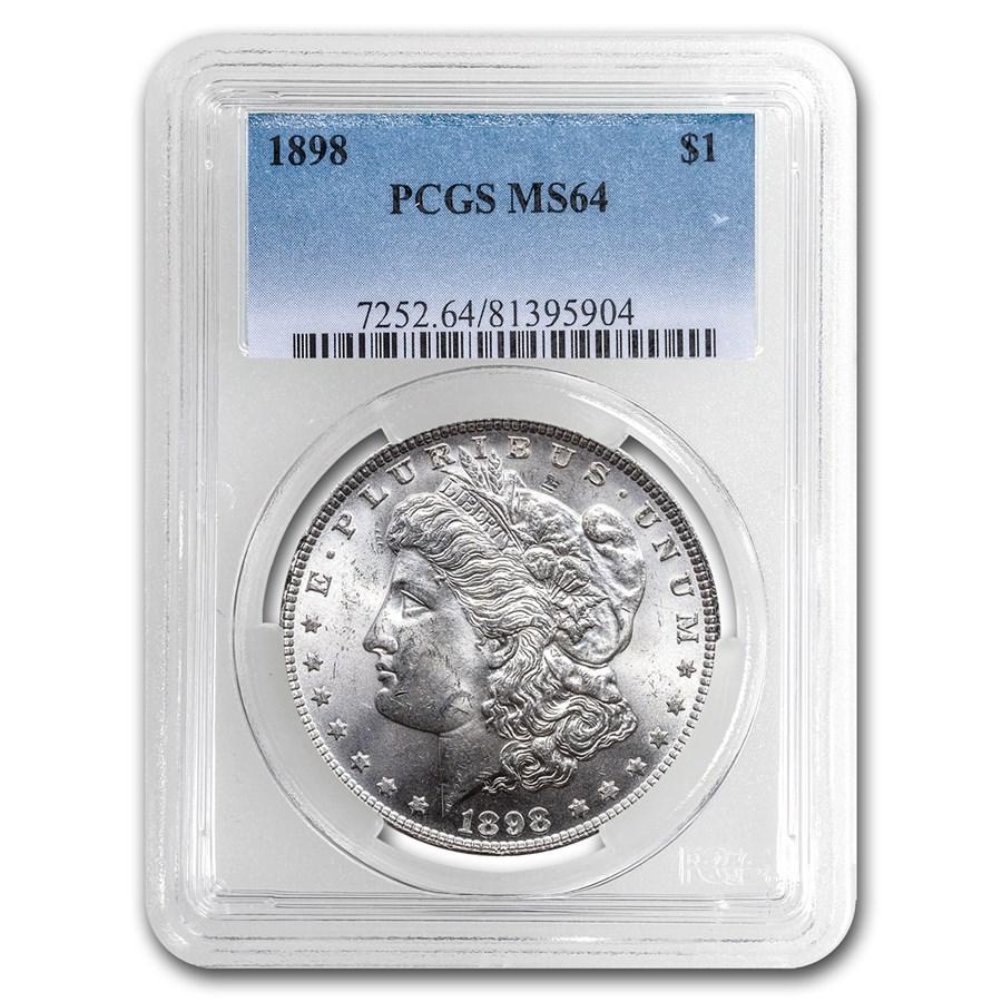 1898 Morgan Dollar MS-64 PCGS