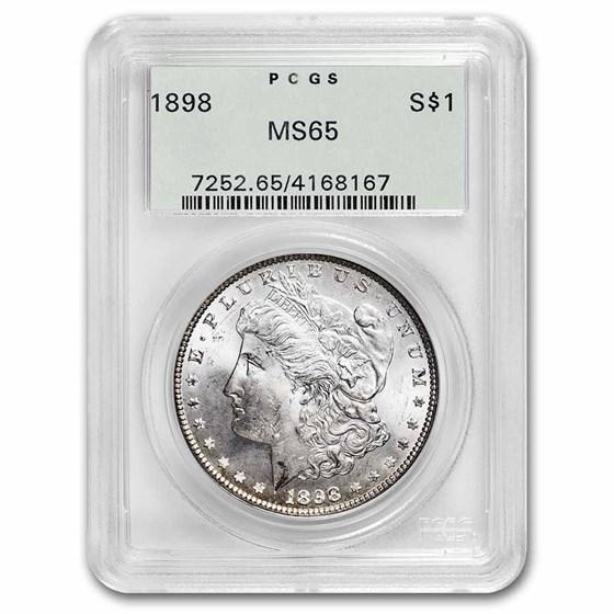 1898 Morgan Dollar MS-65 PCGS