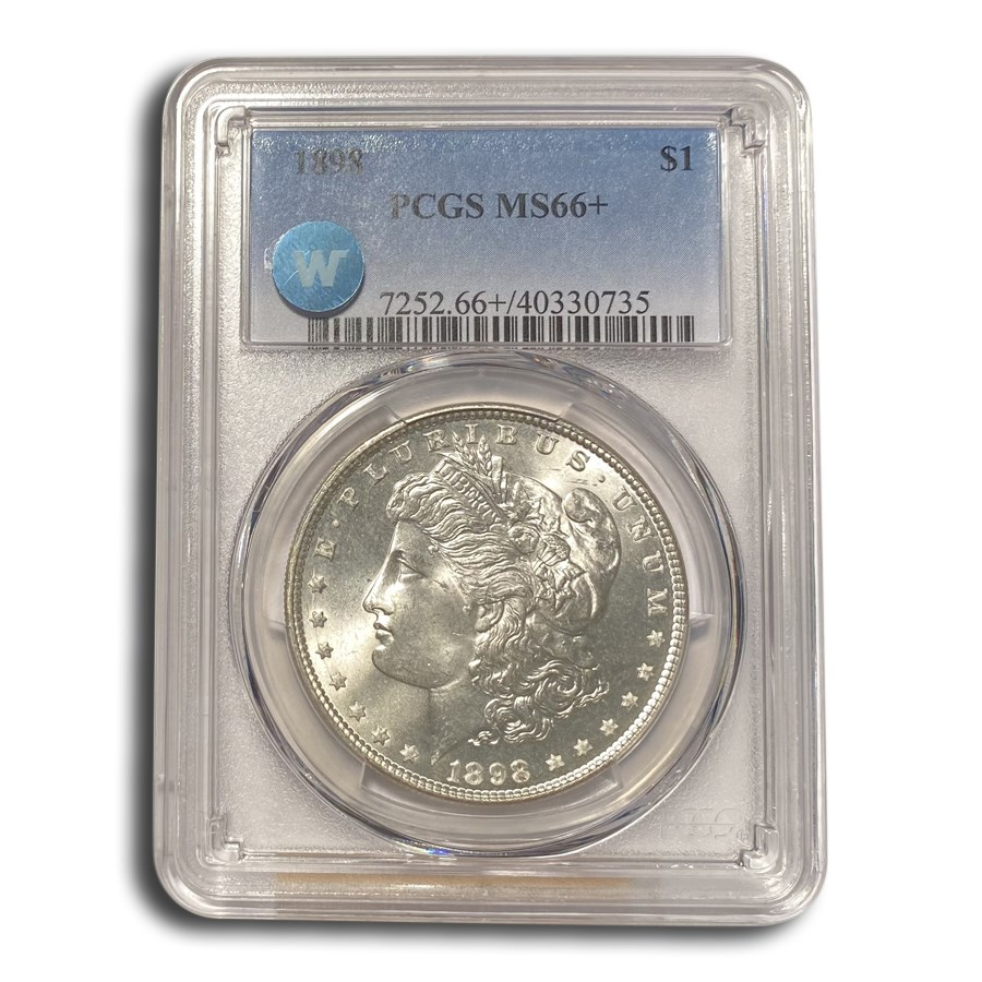 1898 Morgan Dollar MS-66+ PCGS