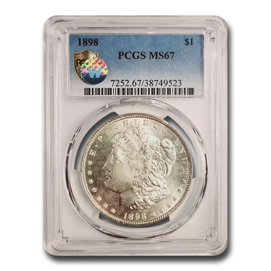 1898 Morgan Dollar MS-67 PCGS