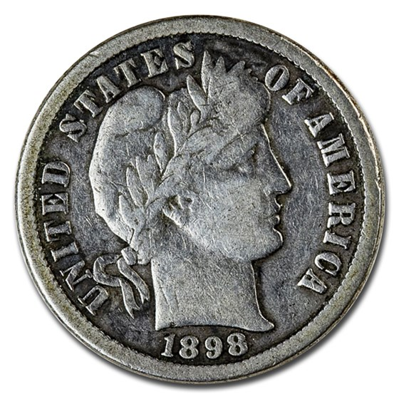 1898-O Barber Dime VG