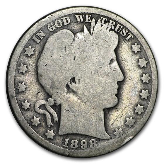 1898-O Barber Half Dollar AG