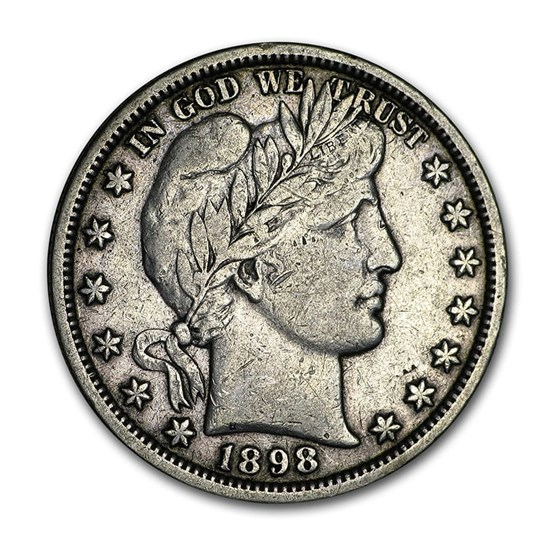 1898-O Barber Half Dollar VF