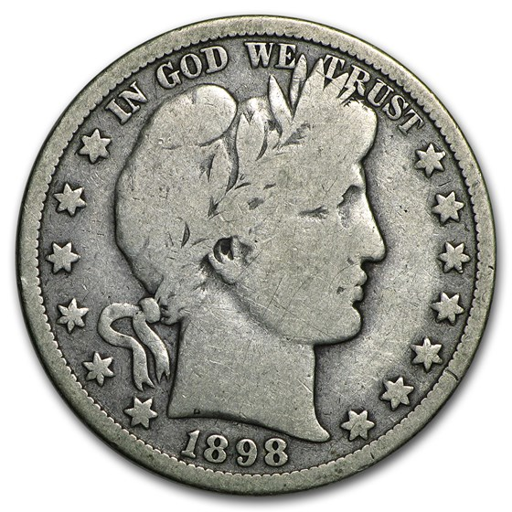 1898-O Barber Half Dollar VG
