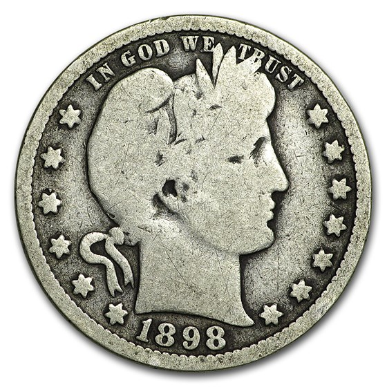 1898-O Barber Quarter Good