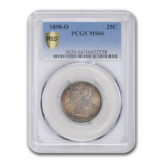 1898-O Barber Quarter MS-66 PCGS
