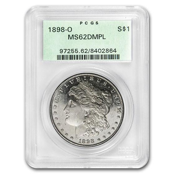 1898-O Morgan Dollar MS-62 DMPL PCGS