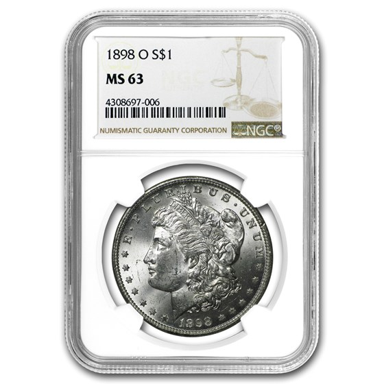 1898-O Morgan Dollar MS-63 NGC