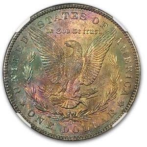 1898-O Morgan Dollar MS-64 NGC (Bold Rev Toning)