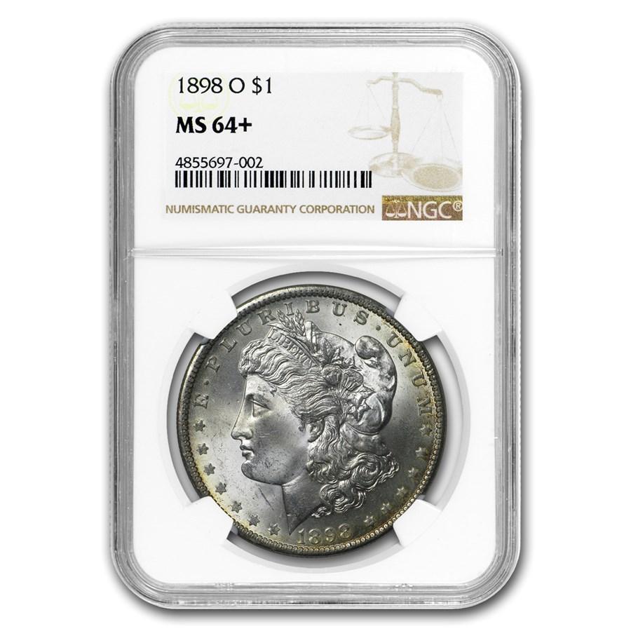 1898-O Morgan Dollar MS-64+ NGC (Obv & Rev Toning)