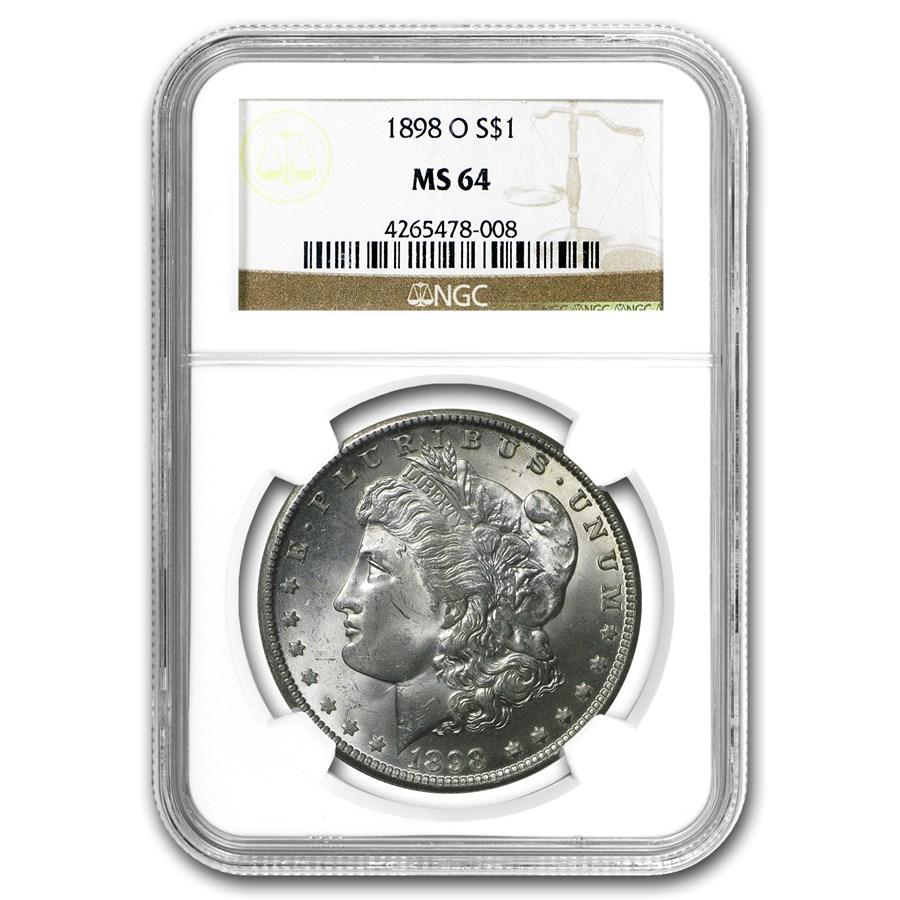 1898-O Morgan Dollar MS-64 NGC